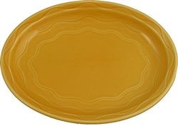 Syracuse Cantina Colored Saffron Carved Platter