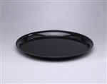 Black Polystyrene 12 in. High Edge Round Serving Tray