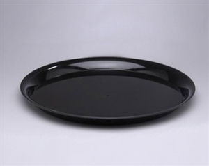 Black Polystyrene 16 in. High Edge Round Serving Tray