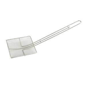 Square Mesh Skimmer Tin Plated - 6.75 in. x 6.75 in. x 20 in.