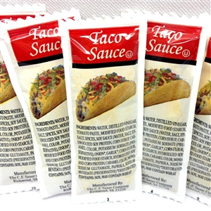 Mayo, Dressings and Condiments Taco Sauce Pouch - 9 Grm.