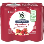 Campbell's Beverage V8 Fusion Strawberry Banana Juice Can 8 Oz.