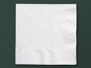 Beverage White Napkin 2 Ply Earth Wise Recycled - 10 in. x 10 in.