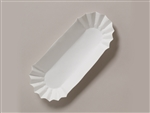 Paper Hot Dog White Medium Weight Tray - 6 in.