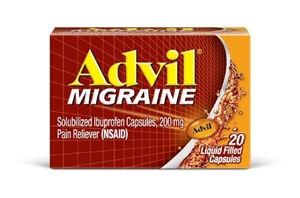 Pfizer Advil 20S Migraine Liquid Caplet 72 Boxes of 20 Tablets