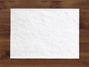 Smith Lee Dubonnet Straight Edge Placemat White 9.75 in. x 14 in.