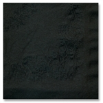 Flat Pack Black Linen-Like Napkin - 16 in. x 16 in.