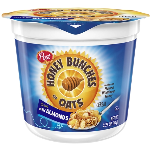 Post Cereal Cup Honey Bunches Of Oats Almond