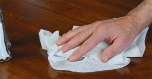 White Food Service Towel - 13.5 in. x 24 in.