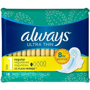 Always Ultra Thin Regular Pads with Flexiwings