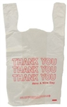 T-Sack Printed Thank You Bag - 11.5 in. x 6.5 in. x 21 in.