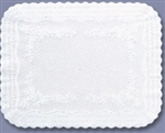 Brooklace Medium Weight Scalloped Paper White Traymat - 12.75 in. x 16.5 in.