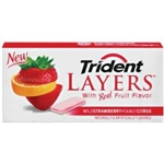 Trident Layers Wild Strawberry Tangy Citrus Multi Pack
