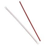 Giant Wrapped Straw Red - 12 in.