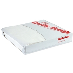 Quik-Rap Sandwich Paper Grease Resistant White - 12 in. x 12 in.