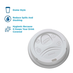 Dixie Dome Perfect Touch Cup Lid White