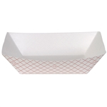 Dixie Plaid Disposable Food Tray Red - 3 Lb.