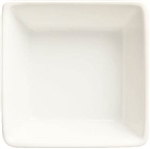 Slate Ultra Bright White Square Dipping Bowl - 2.75 Oz.