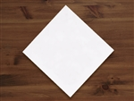 Linen-Like Quarter Fold White Dinner Napkin - 17 in. x 17 in.