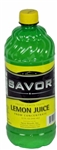 Savor Lemon Juice - 32 Oz.