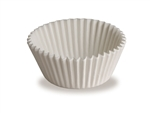 Fluted Bake Cup 3-0.25 in. White Paper