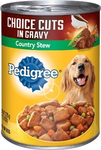 Pedigree Dog Food Complete Nutrition Choice Cuts Country Stew Canned - 22 Oz.