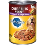 Pedigree Dog Food Complete Nutrition Choice Cuts Lamb and Vegetables - 12 22 Oz.