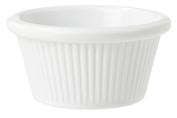 White Ramekin Fluted - 2 Oz.
