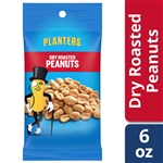 Planters Nut Big Bag Dry Roasted Peanuts - 6 oz