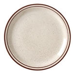 Caravan Brown Speckled Double Band Narrow Rim Plate - 6.5 in.