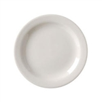 Vista Collection American Narrow Rim Plate White - 5.5 in.