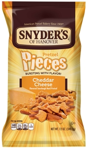 Pretzel Pieces Cheddar Cheese In Printed Pre Priced Bag