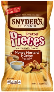 Pretzel Pieces Honey Mustard and Onion In Printed Bag Pre-Priced