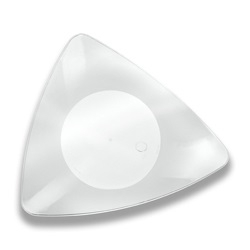 Salad Plate Triangle Clear