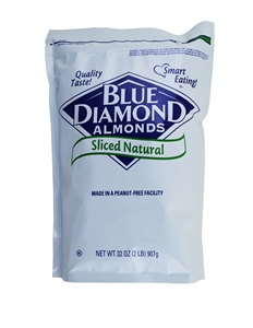 Almonds Natural Sliced - 2 Lb.