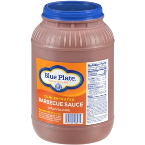 Blue Plate Barbecue Sauce Container - 1 Gal.