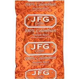 JFG Portion Pack Coffee 100 Percentage Columbian - 1.75 Oz.
