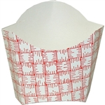 Small Red Glued French Fry Carton - 1.5 in. x 3.375 in. x 3.5 in.
