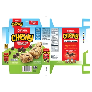 Quaker Granola Bar Chewy Chocolate Chip - 0.84 Oz.