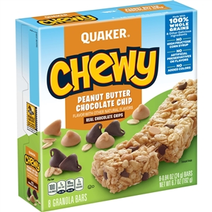 Quaker Granola Bar Chewy Peanut Butter Chocolate Chip - 0.84 Oz.