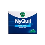 Vicks Nyquil Cold and Flu Relief Liquicaps 24 Boxes of 16 Tablets