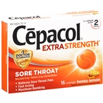 Cepacol Extra Strength Sore Throat Lozenges Honey Lemon