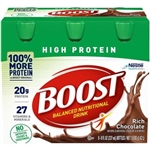 Nestle Boost High Protein Nutritional Beverage Chocolate - 8 fl.oz.