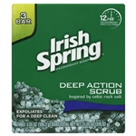 Irish Spring Bar Soap Clean Scrub 3 Bar - 3.75 Oz.