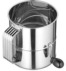 Rotary Sifter 8 Cup Stainless Steel