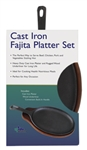 Steak Platter Cast Iron Set