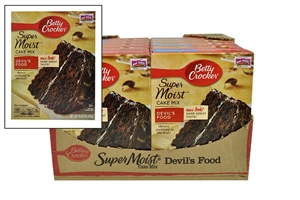 Betty Crocker Supermoist Cake Mix Devils Food - 15.25 oz.