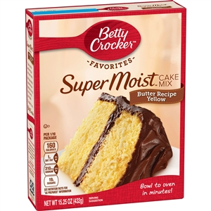 Betty Crocker Supermoist Cake Mix Butter Yellow - 15.25 Oz.