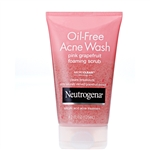 Neutrogena Oil Free Acne Wash Foaming Pink Grapefruit Cleanser - 4.2 Oz.