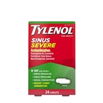 Tylenol Sinus Congestion and Pain Severe Caplets 48 Boxes of 24 Tablets